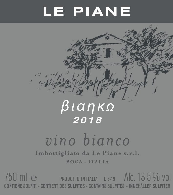 Le Piane Bianko from Erbaluce grapes